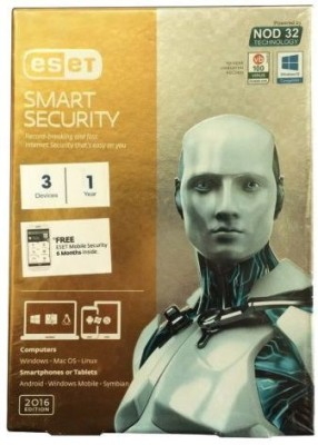 ESET Smart Security 3PC 1Year Total Protection 2016 Version 9