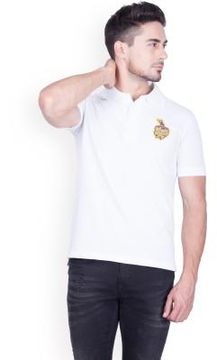 Kolkata Knight Riders IPL Solid Men Polo Neck White T-Shirt