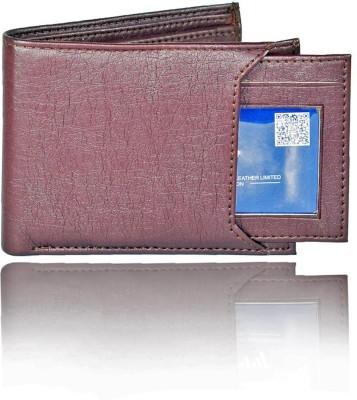 LANDER Boys Casual Brown Genuine Leather Wallet 6 Card Slots