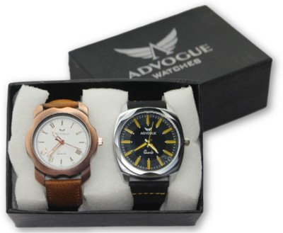 Advogue New Exclusive Collection Leather Strap Belt Mens Watches Best Offer Set of 2 Watch   For Boys Analog Watch   For Boys Advogue Wrist Watches