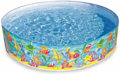 Akshat snapset pool Swimming Inflatable Pool Bath Toy(Multicolor)