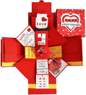 DecuT Explosion Box 3 Layered Handmade Explosion Box Romantic Gift Unique Scrapbook DIY Sweet Memories Photo Album DIY Accessories Kit(Multicolor)
