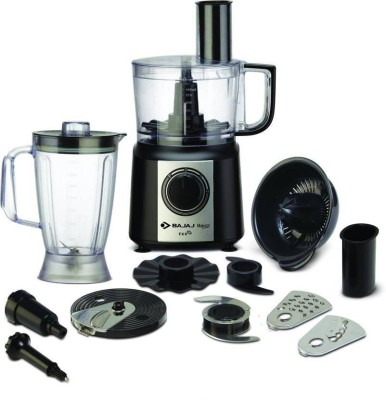 Bajaj Majesty FX 9 New 410201 700 W Food Processor(Black, Silver)