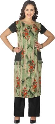 Trend Factory Women Floral Print Straight Kurta(Multicolor)