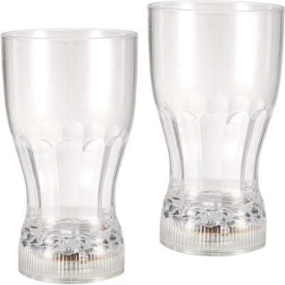Confidence LED Flashing 7 Colour Changing Liquid Activated Glass(Set of 2) Plastic Mug(100 ml, Pack of 2)  available at flipkart for Rs.299