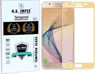 H.K.Impex Tempered Glass Guard for Samsung Galaxy J5 Prime,samsung galaxy j5 prime tempered glass in mobile screen guard(full body cover glass)