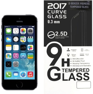 PAV Tempered Glass Guard for Apple Iphone 5 / Iphone 5s Full Screen Coverage - White Colour