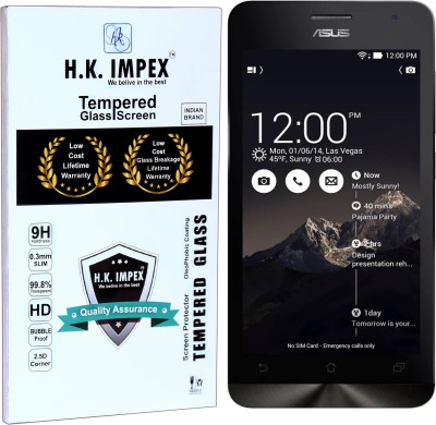H.K.Impex Tempered Glass Guard for Asus Zenfone 5,asus zenfone 5 tempered glass in mobile screen guard (full body cover glass)