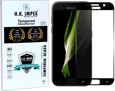 H.K.Impex Tempered Glass Guard for Samsung Galaxy A5 2017,samsung galaxy a5 2017 tempered glass in mobile screen guard
