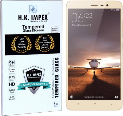 H.K.Impex Tempered Glass Guard for MI REDMI NOTE 3,mi redmi note 3 tempered glass in mobile screen guard (full display cover glass).