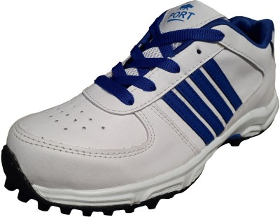 COMEX BOOSTER Cricket Shoes For Men(Off White, Blue)