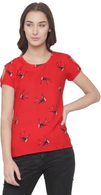 Ans Fab Casual Short Sleeve Printed Women