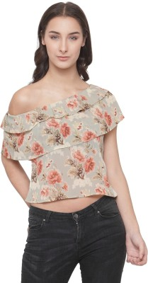 Ans Fab Party Short Sleeve Floral Print Women