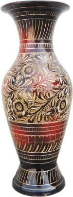 Brass Gift Center Brass Flower Vase Pot with Handwork Brass Vase(7.5 inch, Multicolor)  available at flipkart for Rs.699