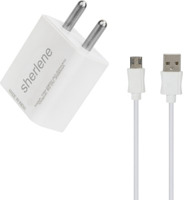 sherlene 2A. FAST CHARGER  SYNC/DA 5 1 A Mobile Charger with Detachable Cable White, Cable Included sherlene Wall Chargers