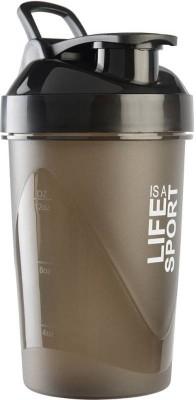 PRiQ Sports Protein ShakeR/Sipper / Gym Bottle / Water Bottle with New Design Plastic Ball 500 ml Shaker(Pack of 1, Orange)  available at flipkart for Rs.225