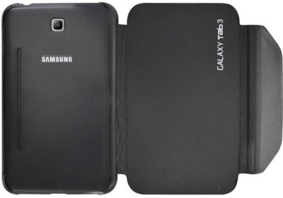Coverage Flip Cover for Samsung Galaxy Tab 3 P3200 (7.0 Inches)(Black)