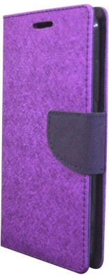 COVERNEW Flip Cover for Motorola Moto M Purple COVERNEW Plain Cases   Covers