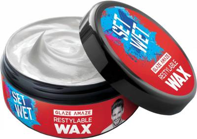 Set Wet Glaze Amaze Restylable Wax Hair Styler