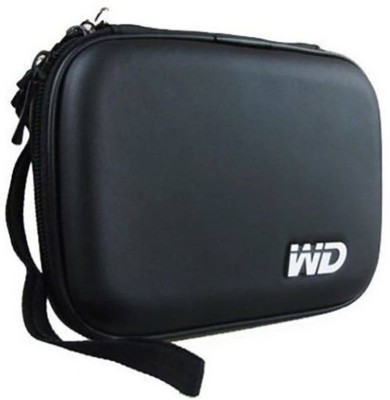 WD High quality 2.5 Inch Case/Pouch/Cover for all External Hard disk (Water proof,Shock resistant,tear proof)(For Hard Disk, Black)