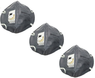 Vezual 9004GV 3M 9004GV ( 3 Masks ) for protection against Dust & Pollution with Air Purifier Valve Mask and Respirator  available at flipkart for Rs.190