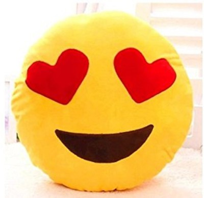 Infinxt Microfibre Emoji Decorative Cushion Pack of 1(Yellow)