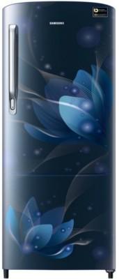 Samsung 192 L Direct Cool Single Door 4 Star (2019) Refrigerator(Blooming Saffron Blue, RR20N172YU8-HL/RR20N272YU8-NL)