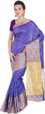 Creative Work Woven Kanjivaram Polycotton, Art Silk Saree(Purple) Flipkart