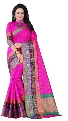 3158785b3bfa2e 86% OFF on Shoppershopee Woven Kanjivaram Banarasi Silk