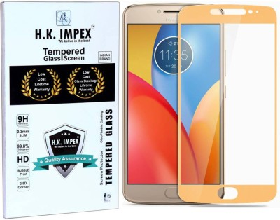 H.K.Impex Tempered Glass Guard for Motorola Moto E4 Plus,motorola moto e4 plus tempered glass in mobile screen guard (full body cover glass)(Pack of 1)