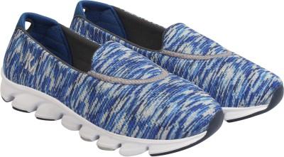 KazarMax Trendy Slip On Sneakers For Women(Blue, Grey)