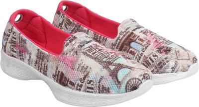 KazarMax Paris Printed Slip On Sneakers For Women(Pink)