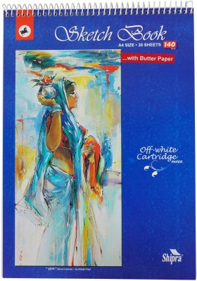 Shipra SS382 Size A4  With Butter Paper   Top Cover May Vary  Sketch Pad