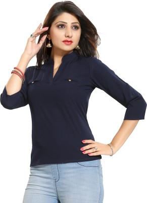ALC Creations Casual 3/4th Sleeve Solid Women