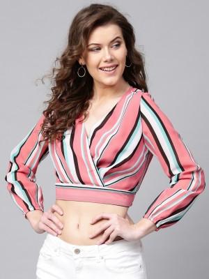Sassafras Casual Full Sleeve Striped Women