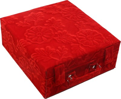 BCC Classic 3 ROLL LAGEN(RED) Churi Box for women Vanity Box(Red)  available at flipkart for Rs.400