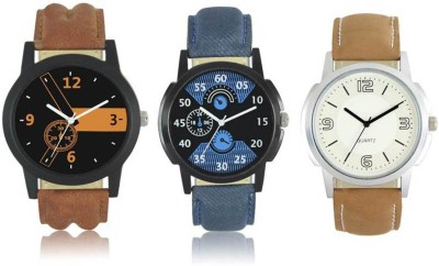 FASHION POOL MENS MOST STYLISH   ATTRACTIVE DESIGNER TRIPLE COMBO LEATHER BELT WATCH Analog Watch   For Men