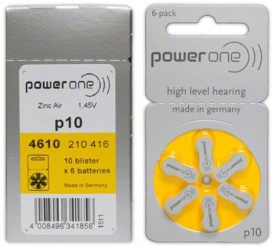 Power One Hearing Aid Battery  Camera Battery Charger(Silver)
