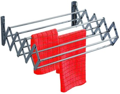 Synergy Stainless Steel Foldable Wall Mounted Stainless Steel Wall Cloth Dryer Stand(Steel)  available at flipkart for Rs.1299