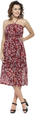 Oxolloxo Women Gathered Multicolor Dress