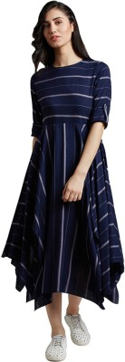 Jaipur Kurti Women Maxi Blue Dress