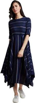 Jaipur Kurti Women Maxi Blue Dress