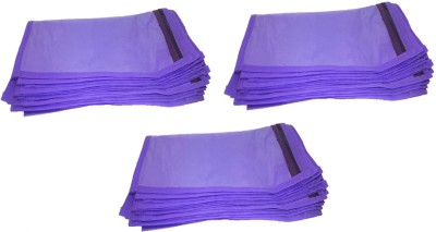Addyz Saree Cover Plain Pack Of 36 Pieces Single Non woven Saree Cover Bags Packaging Storage Cloth Clear Plastic Zip Garment Bag Purple Addyz Garment