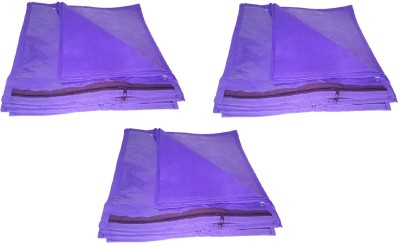 b0b223c5a5f 53% OFF on Addyz Saree Cover Plain Pack Of 18 Pieces Single Non woven Saree  Cover Bags Packaging Storage Cloth Clear Plastic Zip Garment Bag(Purple) on  ...