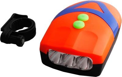 Asraw Bicycle 3 LED 3 Mode Front Light & Horn LED Front Light(Orange)