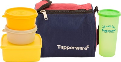 Tupperware Best lunch Bag with 4 containers capacity 1200ML 4 Containers Lunch Box(1230 ml)  available at flipkart for Rs.1050