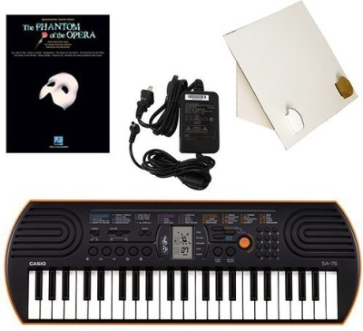 Generic Casio Sa-76 44 Key Mini Keyboard Deluxe Bundle Includes Bonus Casio Ac Adapter, Desktop Music Stand & The Phantom Of The Opera B(Multicolor)  available at flipkart for Rs.17339
