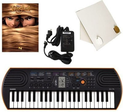 Generic Casio Sa-76 44 Key Mini Keyboard Deluxe Bundle Includes Bonus Casio Ac Adapter, Desktop Music Stand & Disney'S Tangled Beginning(Multicolor)  available at flipkart for Rs.17339