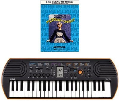 Generic Casio Sa-76 44 Key Mini Keyboard Bundle Includes Bonus The Sound Of Music Beginning Piano Solo Songbook(Multicolor)  available at flipkart for Rs.16237