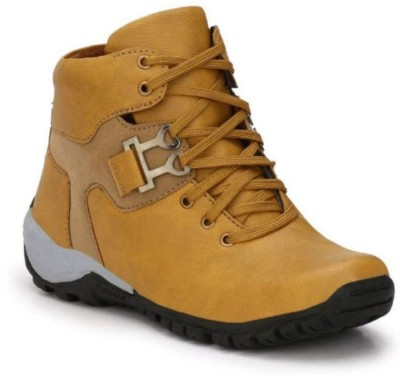 Sneakers Carnival Shoes 06 Boots For Men(Tan)  available at flipkart for Rs.199